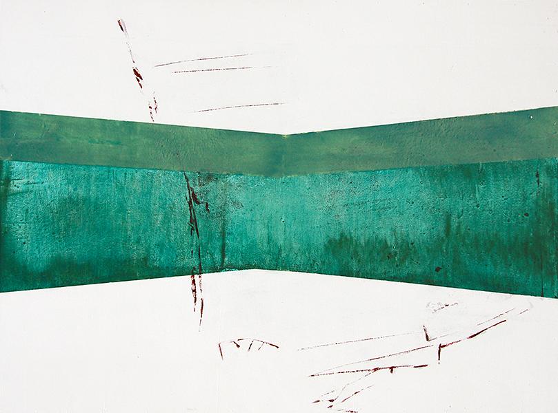 """Panorama"", acrylic on wood panel, 90 x 120 cm, Marco Kaufmann, 2012"